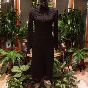 Beaded Black Dress by Outlander